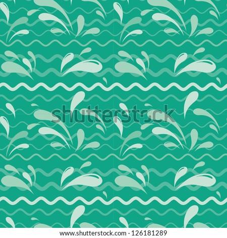 Drop seamless pattern - stock vector