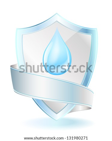 Drop shield with copy space - stock vector