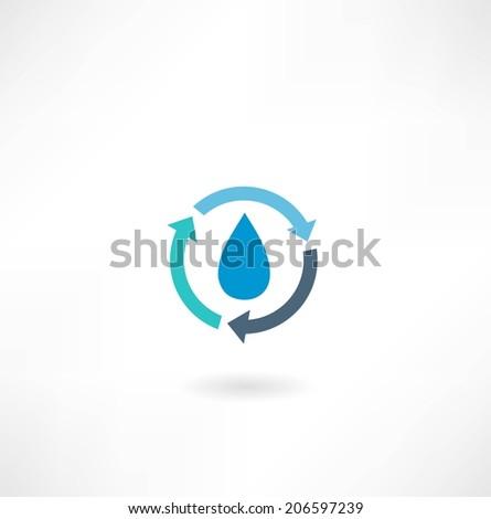 drop the arrow icon - stock vector