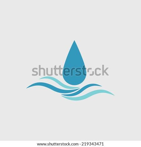 drop wave - stock vector
