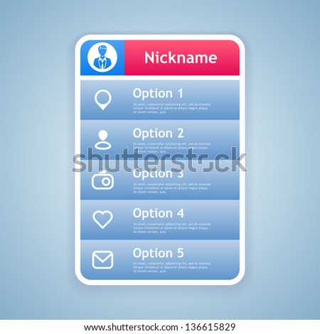 Dropdown menu. Vector illustration. Eps 10. - stock vector