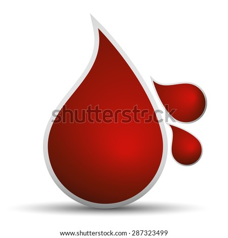 Drops of blood - stock vector