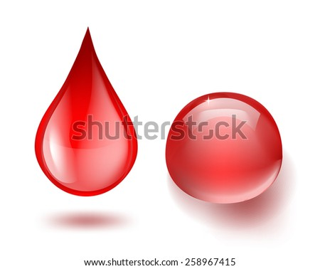 drops of blood on white - stock vector