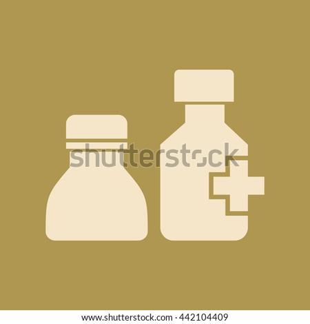 Drug Bottle Icon - stock vector