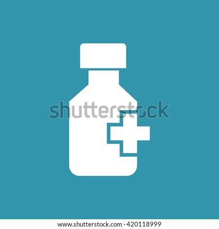 Drug bottle Icon. Eps-10. - stock vector