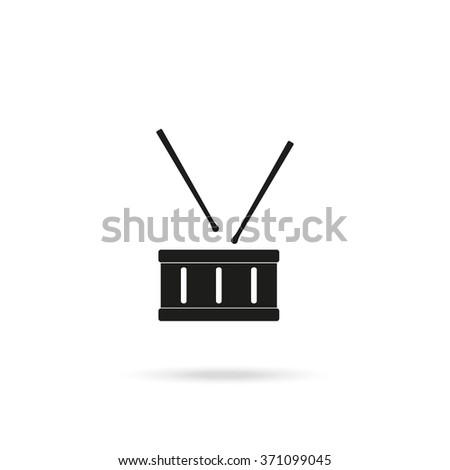 Drum flat icon. - stock vector