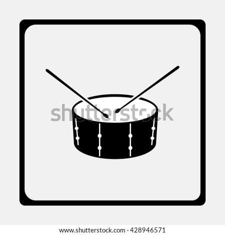 Drum Icon. - stock vector