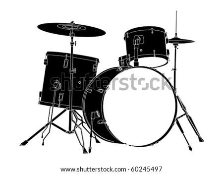 Drum Kit. - stock vector