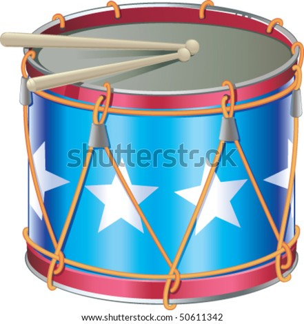 Drum of Independence Day - stock vector