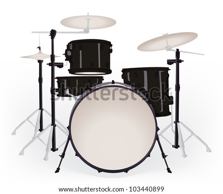 Drum set - stock vector