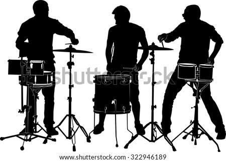 drummers - stock vector