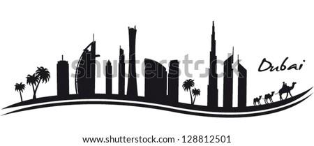 Dubai - stock vector