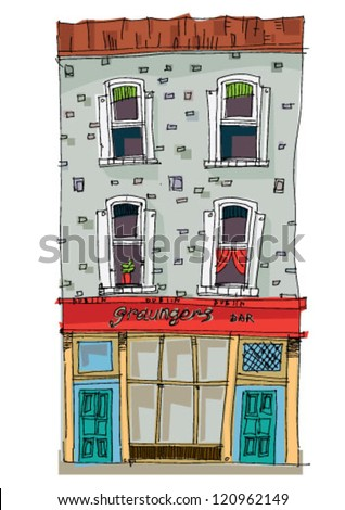 dublin - facade - cartoon