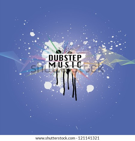dubstep music vector - stock vector