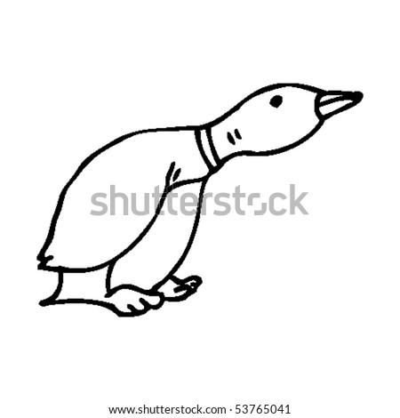 duck cartoon - stock vector
