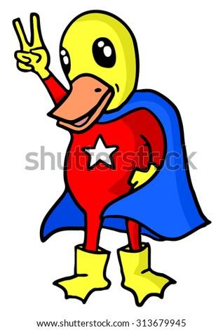 duck hero - stock vector