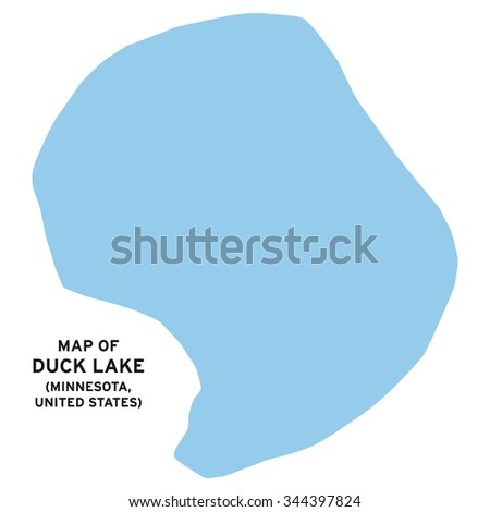 Duck Lake Minnesota United States Map Vector Stock Vector HD - Duck lake map