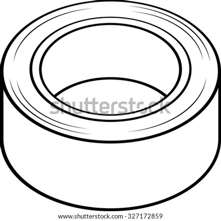 duct tape roll - stock vector