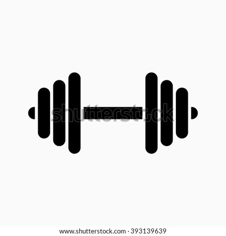 Dumbbell Icon Vector Dumbbell Vector...