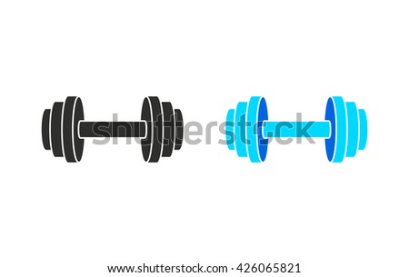 Dumbbell    vector icon. Illustration isolated for graphic and web design.