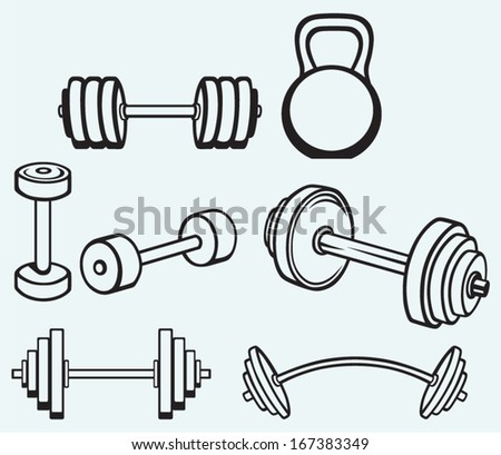 Dumbbell Icon Vector Dumbbells icons isolated on