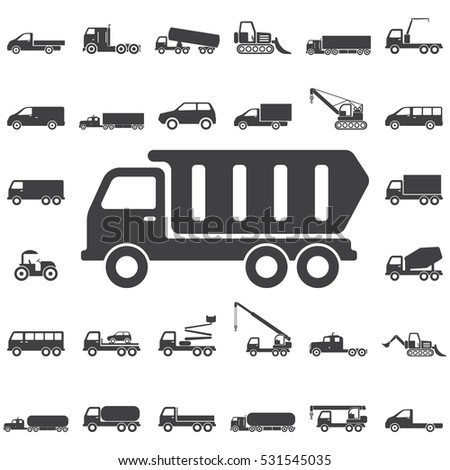 Dump truck icon. Transport icons universal set for web and mobile