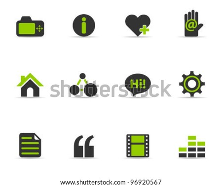 Duo Tone Color Icons - Personal Website - stock vector
