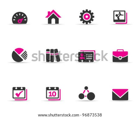 Duo Tone Color Icons - Universal - stock vector