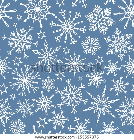 Duotone seamless winter texture. Winter background. Christmas template. - stock vector