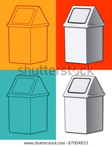 Dustbin - stock vector