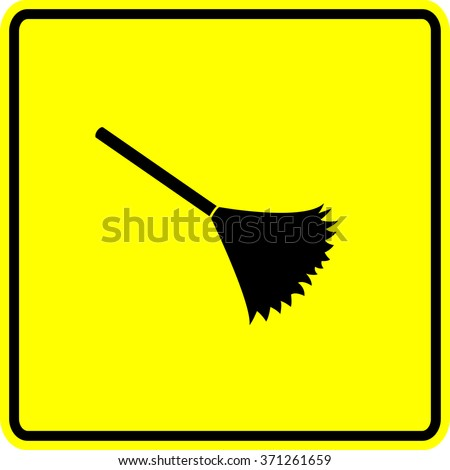 duster sign - stock vector