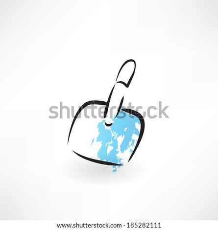 dustpan grunge icon - stock vector