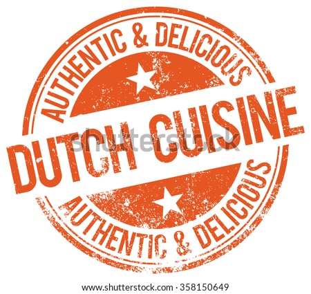 dutch cuisine stamp - stock vector