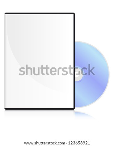 DVD disk with a blank cover - stock vector
