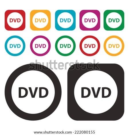 DVD icon - stock vector
