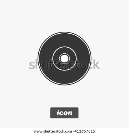 DVD icon, vector illustration - stock vector