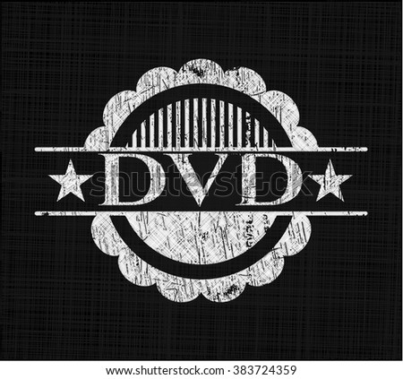 DVD with chalkboard texture - stock vector