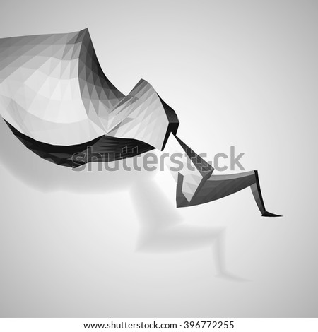 Dynamic abstract element on white background, vector eps 10 illustration - stock vector