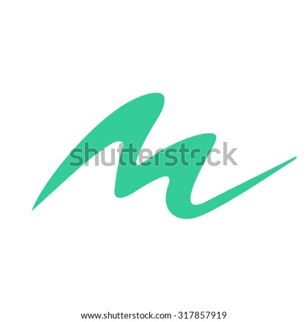 Dynamic letter M logo - stock vector
