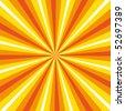 Dynamic sunburst colour explosion. Vector background. - stock vector