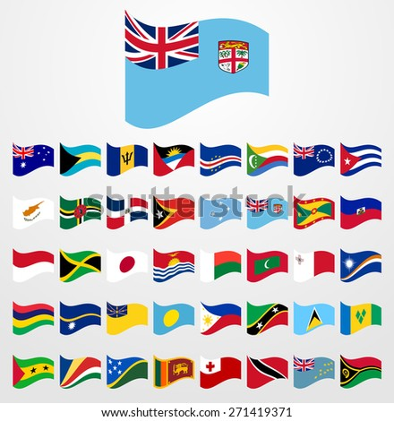 Dynamic waving flag collection 4/6 Islands