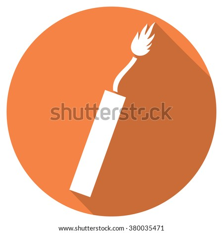 dynamite flat icon - stock vector