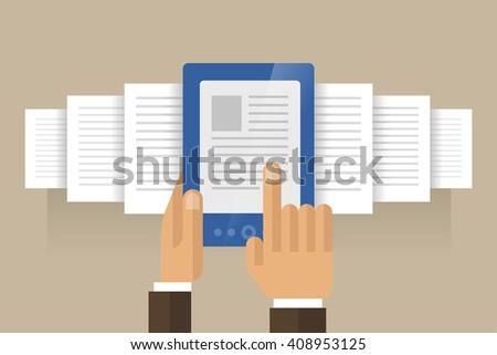 e-book concept - vector illustration - stock vector