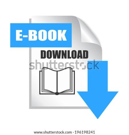 E-book download icon - stock vector