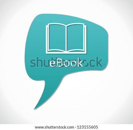 e book icon - stock vector