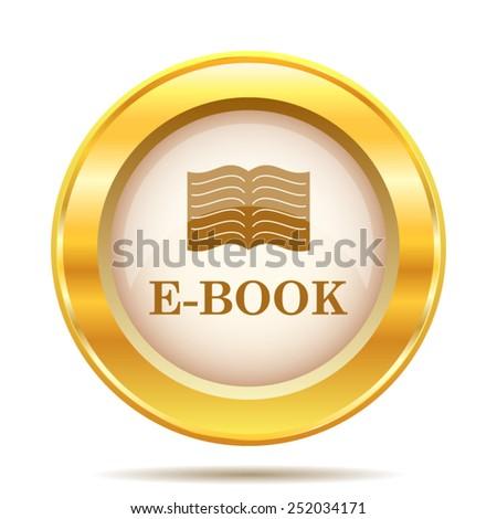 E-book icon. Internet button on white background. EPS10 vector.  - stock vector