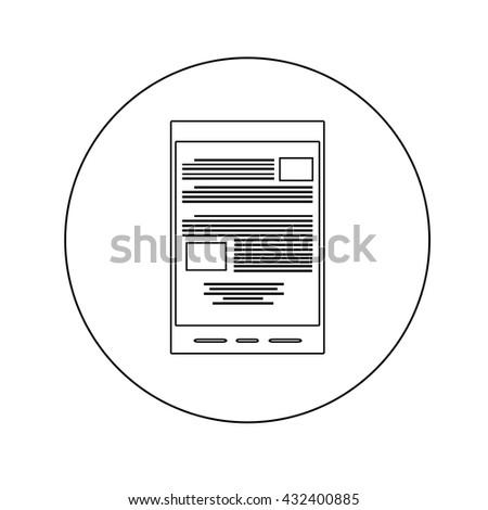e-book reader line icon. trendy modern vector illustration - stock vector