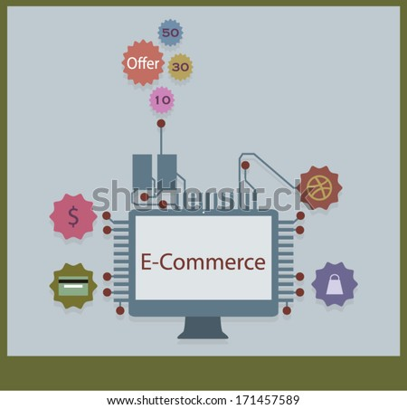 E-Commerce - stock vector