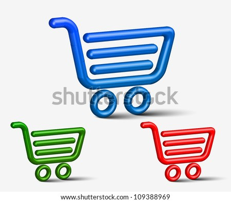 e commerce and shopping icon sets design. - stock vector