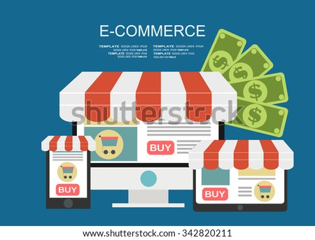 E-commerce. Business concept.